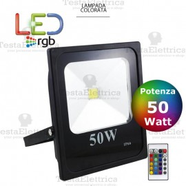 Faro a Led RGB slim 50 watt