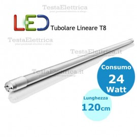 Tubo a led 120 cm T8 24 watt Dgk