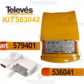 Kit amplificatore da palo + alimentatore Televes