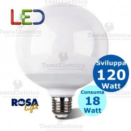 Lampadina a led Globo E27 18 Watt Rosalight