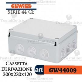 Cassetta di derivazione da parete 30x22x12 cm Gewiss
