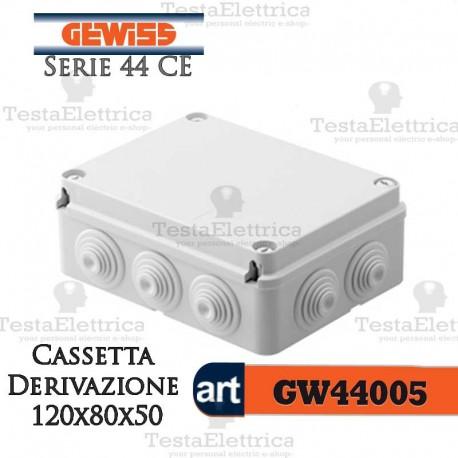 Cassetta di derivazione da parete   120x80x50  mm Gewiss