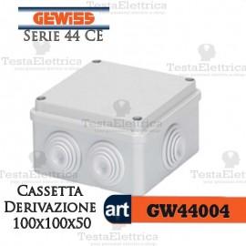 Cassetta di derivazione da parete  100x100x50 mm Gewiss