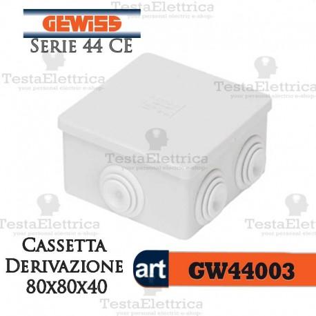 Cassetta di derivazione da parete  80x80x40 mm Gewiss