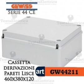 Cassetta di derivazione esterna pareti lisce  46x38x12 cm Gewiss