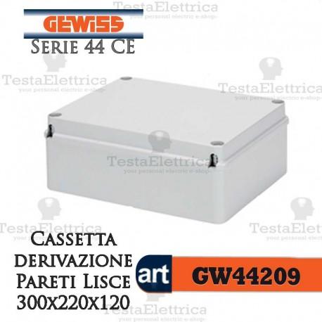 Cassetta di derivazione esterna pareti lisce  30x22x12 cm Gewiss