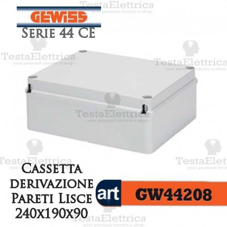 Cassetta di derivazione esterna pareti lisce  24x19x12 cm Gewiss