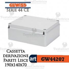 Cassetta di derivazione esterna pareti lisce  19x14x7 cm Gewiss
