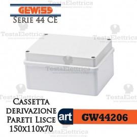Cassetta di derivazione esterna pareti lisce  15x11x7 cm Gewiss