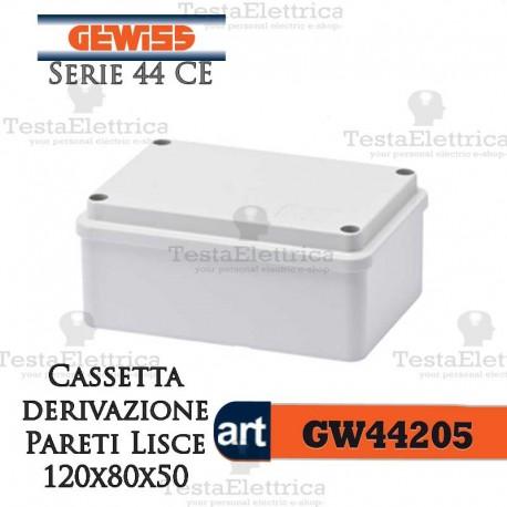 Cassetta di derivazione esterna pareti lisce  12x8x5 cm Gewiss