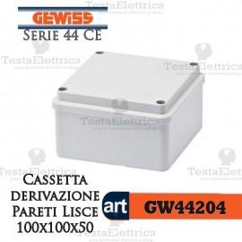 Cassetta di derivazione esterna pareti lisce  10x10x5 cm Gewiss