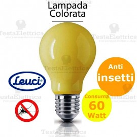 Lampada a incandescenza anti insetti goccia 60W E27 Leuci