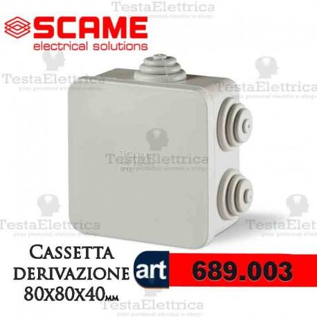 Cassetta di derivazione da parete   80x80 x40  mm Scame