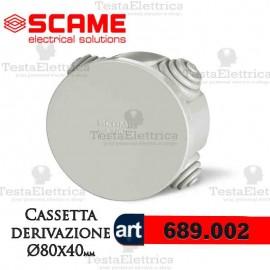 Cassetta di derivazione da parete   Ø  80 mm Scame