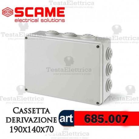 Scame cassetta da parete di derivazione ip55 190x140x70 mm - Convettori elettrici da parete ...