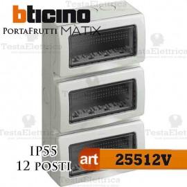 Calotta portafrutti 12 posti IP55 Idrobox Matix Bticino