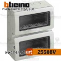 Calotta portafrutti 8 posti IP55 Idrobox Matix Bticino