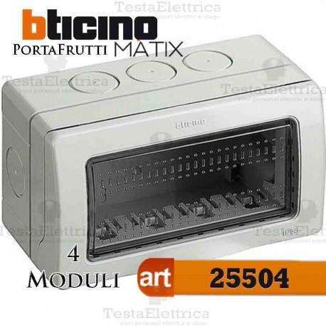 Calotta portafrutti 4 posti IP55 Idrobox Matix Bticino