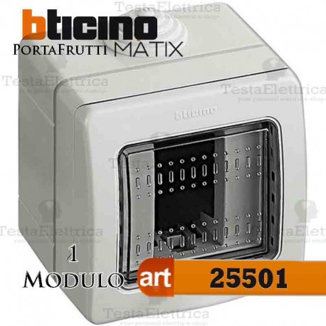 Calotta portafrutti 1 posto IP55 Idrobox Matix Bticino