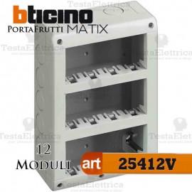 Calotta portafrutti 12 posti Idrobox Matix Bticino