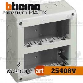 Calotta portafrutti 8 posti Idrobox Matix Bticino