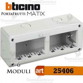 Calotta portafrutti 6 posti Idrobox Matix Bticino