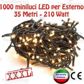 Serie da 1000 minilucciole LED 35Mt per Esterno