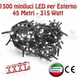 Serie da 1500 minilucciole LED 45Mt per Esterno