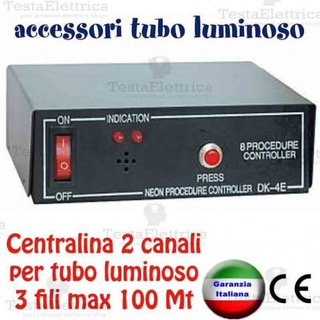 Centraline Per Luci Natalizie.Centralina Giochi Luce Per 2 Tubi Luminosi Natalizi Max 200 Metri