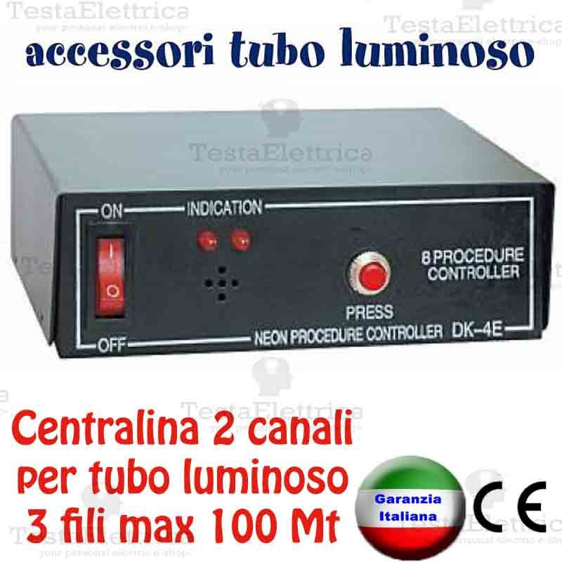 Centralina giochi luce per 2 tubi luminosi natalizi max for Tubi luminosi led