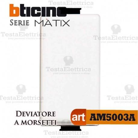 Deviatore 1P 16 AX  250 Va.c. morsetti automatici Bticino Matix