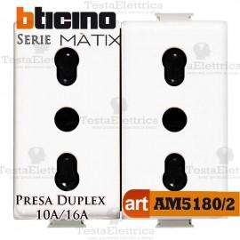 Presa Duplex bipasso 2P+T 10/16A Bticino Matix