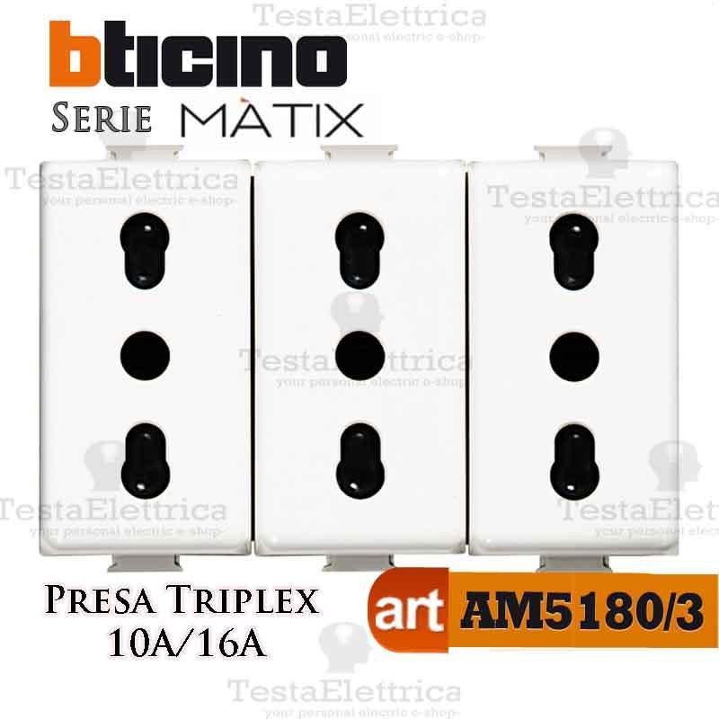 BTICINO MATIX AM5180 PRESA BIPASSO STANDARD 2P+T 10//16A