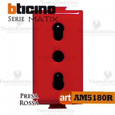 Presa Rossa bipasso 2P+T 10/16A Bticino Matix