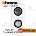 Presa TV-SAT demiscelata diretta Bticino Matix