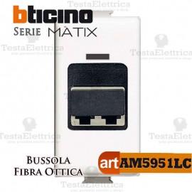 Bussola di accoppiamento per fibra ottica  LC duplex Bticino Matix