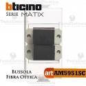 Bussola di accoppiamento per fibra ottica  SC duplex Bticino Matix