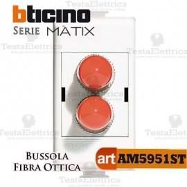 Bussola di accoppiamento per fibra ottica  ST duplex Bticino Matix