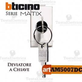 Deviatore 1P con chiave Bticino Matix