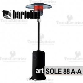 Stufa a Fungo SOLE 88 A-A Nera Bartolini