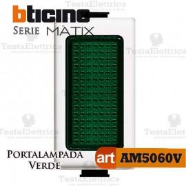 Portalampada Verde Illuminabile Bticino Matix