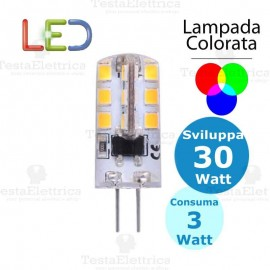 Lampada led Colorata G4 12V 3W Dgk