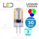 Lampada led Colorata G4 12V 3W Dgk