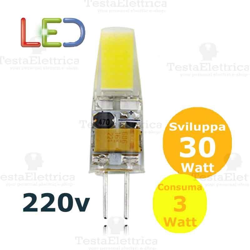 Led g4 220v 3w for Lampadine led 3 watt