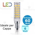 Lampada a led per cappa 6 W E14