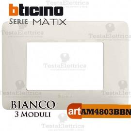 Placca 3 moduli Bianca Bticino Màtix