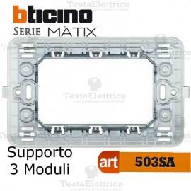 Supporto 3 moduli Bticino Màtix