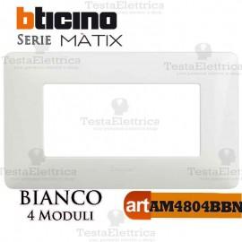 Placca 4 moduli Bianca Bticino Matix