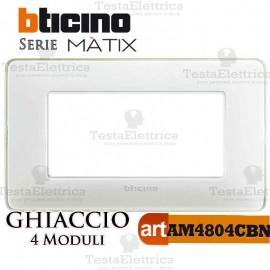 Placca 4 moduli Ghiaccio Bticino Matix