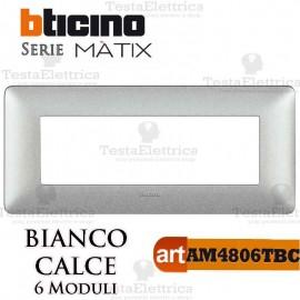Placca 6 moduli Bianco Calce Bticino Matix
